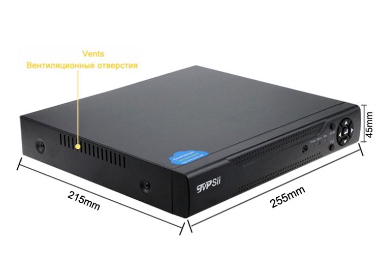 Metal Case XMeye 8CH and 4CH 1080P 2MP Full HD Surveillance Video RecorderHybrid 5 in 1 WIFI Onvif NVR TVI CVI AHD DVR Free Shipping 00