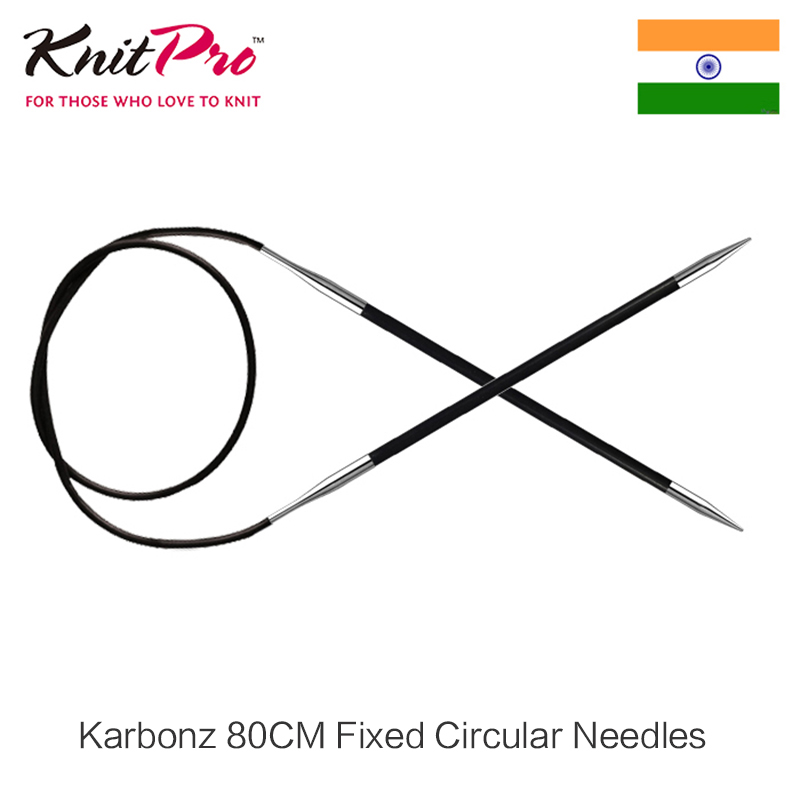 Knitpro Karbonz 80cm Fijo Circular Knitting Needles
