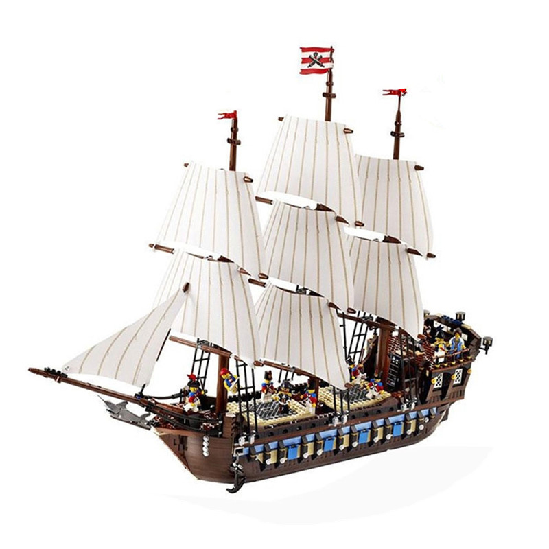 2018 NEW 22001 Pirate Ship warships Model Building Kits Block Briks Toys Children Gift 1717p Compatible with Legoingly 10210 diy 2017 new lepine pirate ship imperial warships model building kits block briks toys gift 1717pcs compatible lele 10210