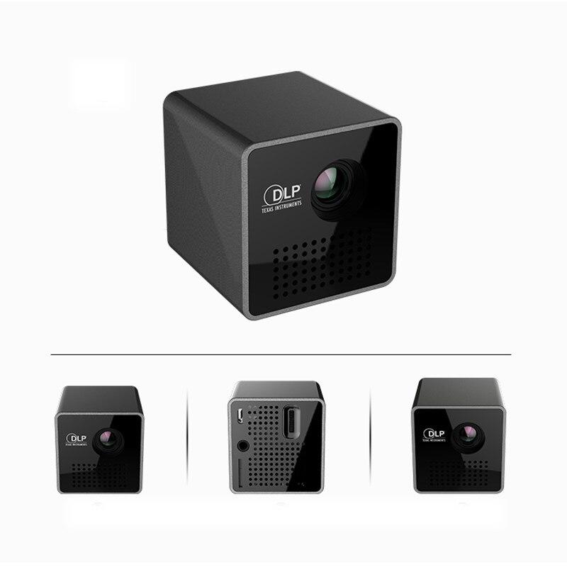 Original UNIC P1 projecteur poche maison film projecteur Proyector Beamer batterie Mini DLP P1 projecteur mini projecteur LED - 4