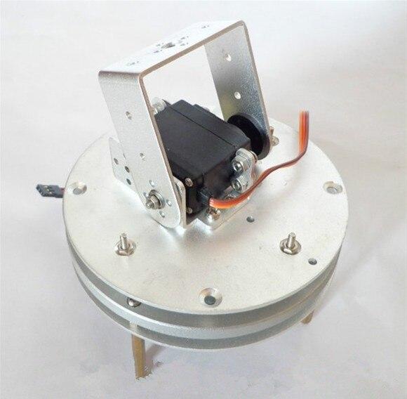 2-DOF robot base Arduin0 servo gimbal camera photography turntable chassis metal circular rotating base camera photography turntable for standard servo f17314