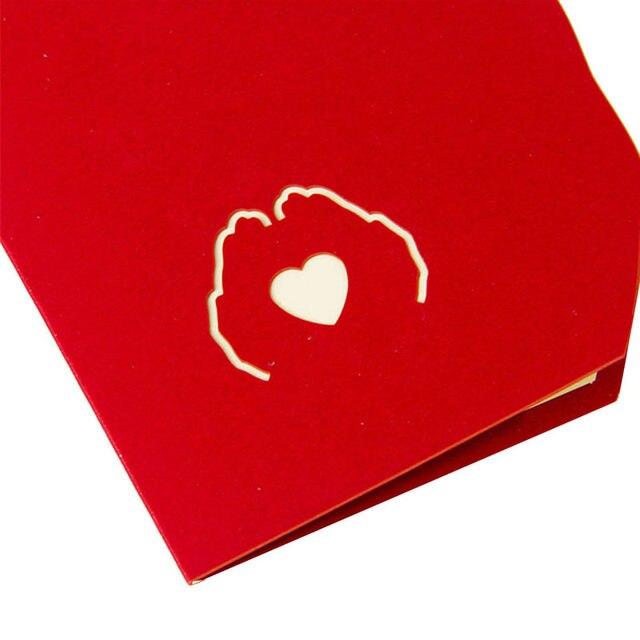 Online shop 3d paper laser cut pop up greeting cards creative 3d paper laser cut pop up greeting cards creative handmade love in the hand birthday anniversary postcards gift m4hsunfo