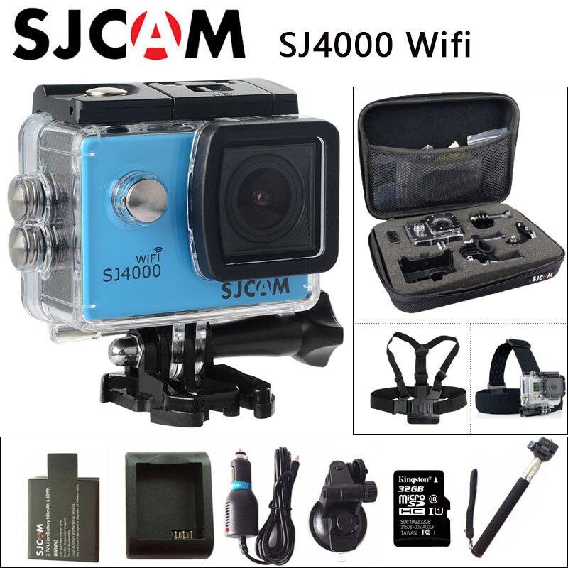 Оригинальный SJCAM SJ4000 Wi-Fi действие Камера 2,0 дюймов ЖК-дисплей Экран 1080P HD для дайвинга 30 м Водонепроницаемая мини камера регистратор SJ 4000 Cam ...
