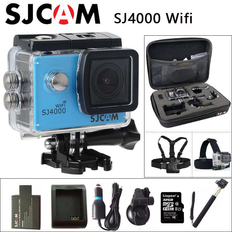 Original SJCAM SJ4000 WiFi Action Kamera 2,0 zoll Lcd-bildschirm 1080 p HD Tauchen 30 mt Wasserdichte mini Camcorder SJ 4000 Cam Sport DV
