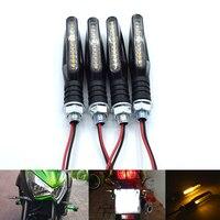 범용 오토바이 LED 유연한 차례 신호 표시기 앰버 빛 BMW K1200R K 1200 R K1200 R K 1200R 2005-2008 2006 2007