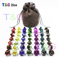 49pcs/pack Wholesale Polyhedron Rpg Dnd Gaming Dice Set with A Free Bag for Entertainment,Table game