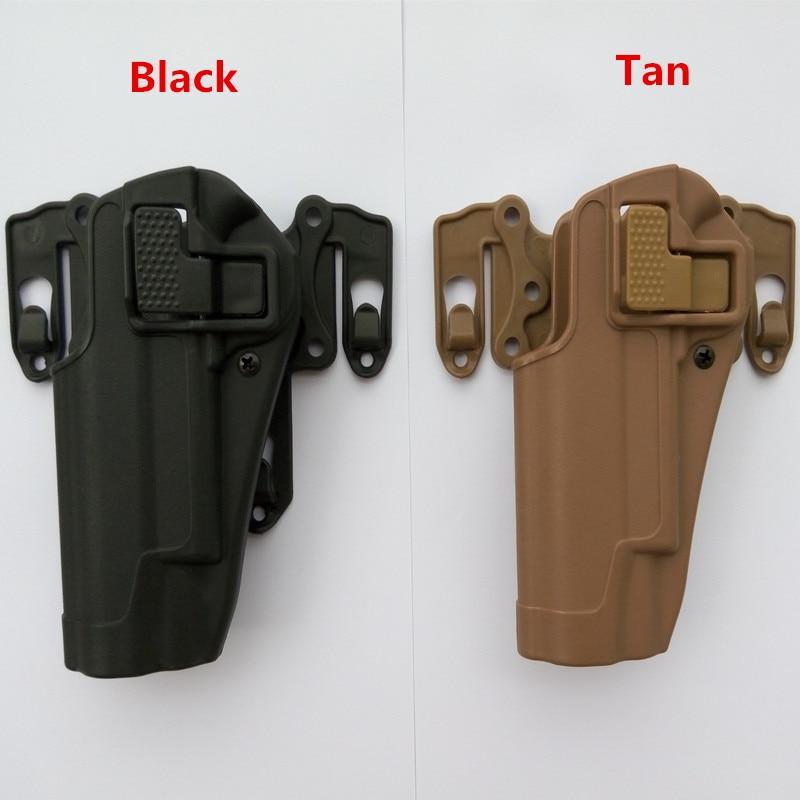 Tactische 100% echt Hoge kwaliteit van militaire tactische Fit Borst taille been paddle Molle holster fit voor 1911 linkerhand