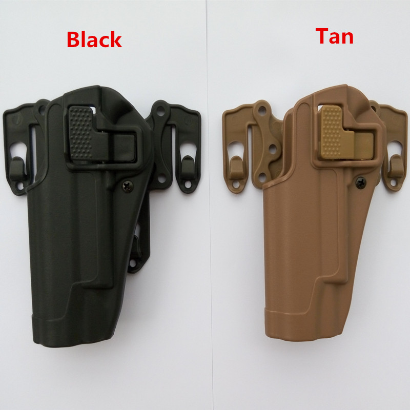 Tactical 100% genuine High quality of military tactical Fit Chest Waist leg paddle <font><b>Molle</b></font> <font><b>holster</b></font> fit for <font><b>1911</b></font> left hand image
