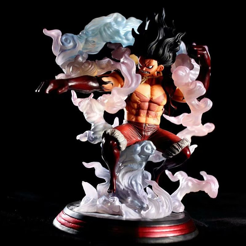 Us 47 98 20 Off One Piece Monkey D Luffy Gear 4 Snake Form Battle Form Statue Pvc Standing Posture Luffy Action Figure Collectible Model Toys In