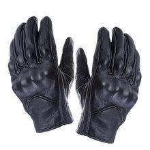 Ретро перфорированные перчатки из натуральной кожи мотоциклетные водонепроницаемые перчатки мотоциклетные Защитное снаряжение для мотопробега ATV UTV гоночные перчатки