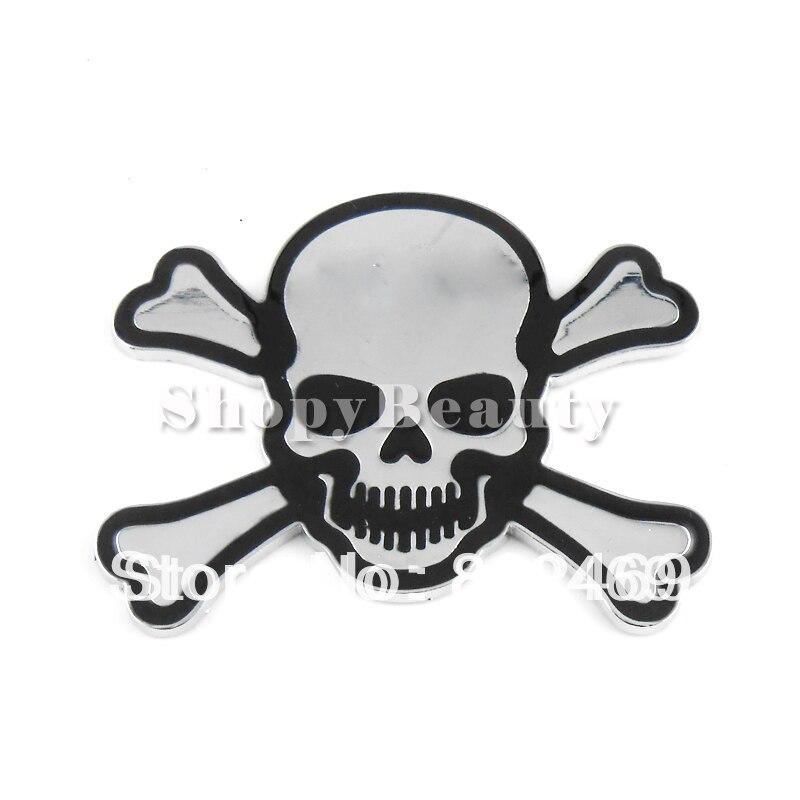 D DIY Car Decal Skull Bone Stickers Emblem Badge Logo Maker For - Cars decal maker