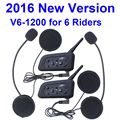 2016 New ! V6 Helmet Intercom walkie talkie 6 Riders 1200M Motorcycle Bluetooth Intercom Headset Helmet BT Interphone intercom