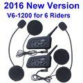 2016 ¡ Nuevo! V6 Casco Intercom walkie talkie 6 Jinetes 1200 M Bluetooth de La Motocicleta Intercom Headset Casco BT Interphone Del intercomunicador