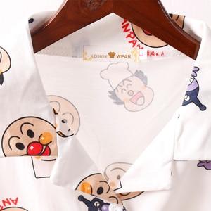 Image 5 - Caiyier 2019 Summer Cotton Pajama Sets Bread Superman Print Short Sleeve Ladies Sexy Sleepwear With Eye Mask Casual Nightwear