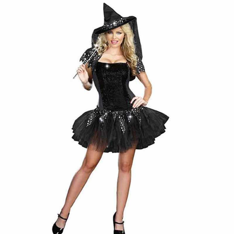 ハロウィンセクシーな魔女衣装大人服セックス女性女王カーニバルパーティーコスプレファンシードレス