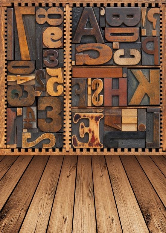arte de madera de encargo palabra de pared de vinilo pao fondo fotogrfico para nios de