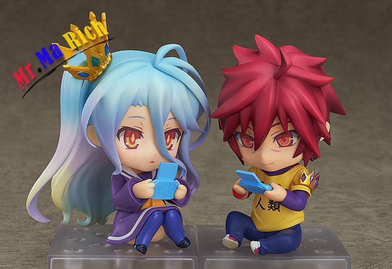 10CM Nendoroid No Game No Life Anime Sora & Shiro PVC Action Figure Collectible Model Cartoon Toy Gift