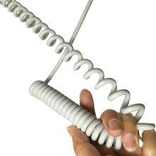Câble en spirale blanc en fil de cuivre
