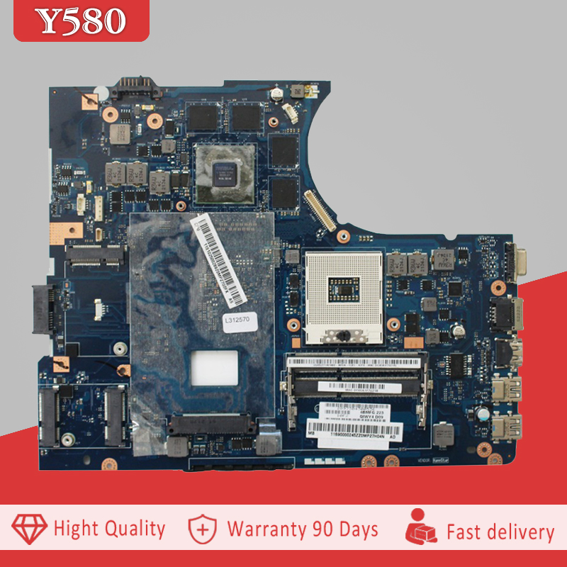 YTAI GTX660M HM76 DDR3 mainboard For Lenovo Y580 Laptop Motherboard GTX660M HM76 DDR3 QIWY4 LA-8002P REV:1.0 Mianboard 100% test ytai original for asus ux32a ux32v ux32vd rev 2 4 i5 3317u laptop notebook motherboard hm76 60 ny0mb1200 a02 ddr3 2g