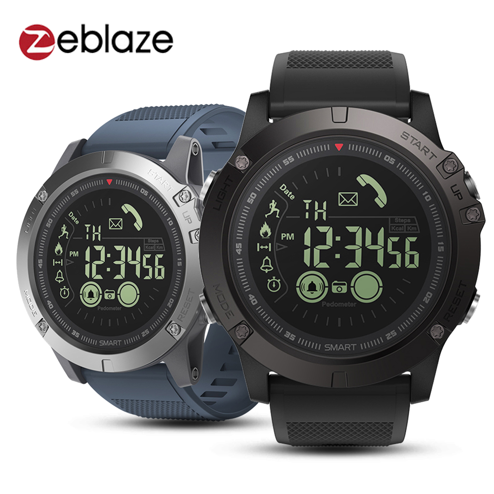Zeblaze VIBE 3 reloj inteligente impermeable vida Bluetooth pulsera podómetro alarma cronómetro mucho tiempo de espera Digital Reloj de los hombres