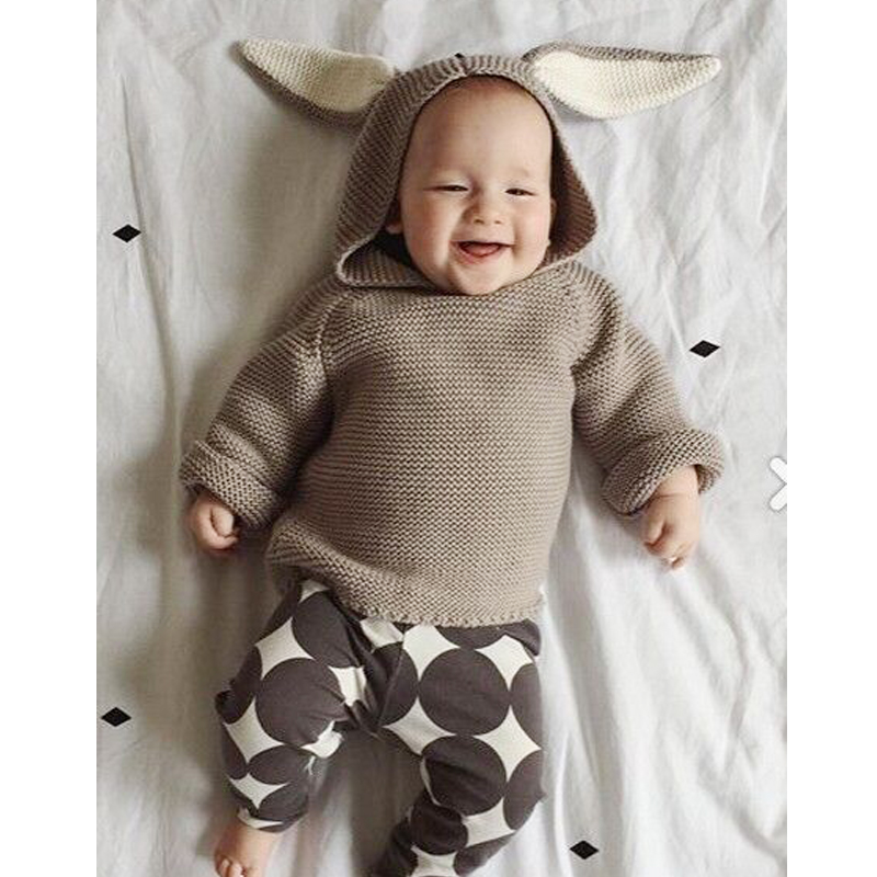 2017 Spring Autumn Kids Boy Knitted Sweaters Bobo Choses Cute