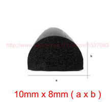 купить 3m x 10mm x 8mm d type seal door sticker adhesive epdm rubber foam sponge seal strip crashproof weatherstrip sound insulation по цене 618.1 рублей
