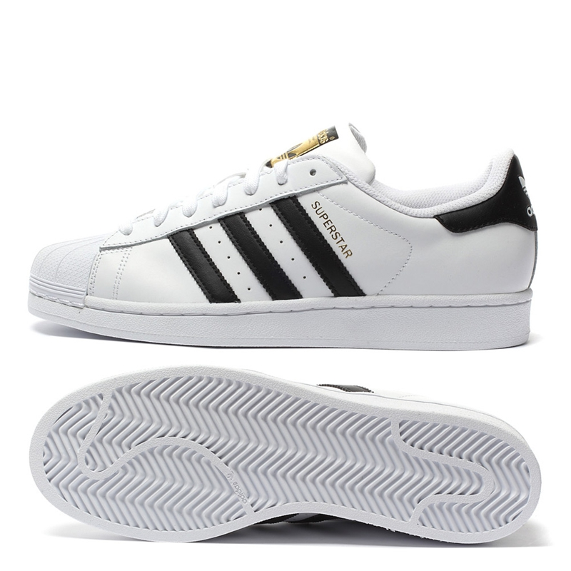 Original New Arrival Authentic Adidas Superstar Classics Unisex Men's and Women's Skateboarding Shoes Anti-Slippery Sneakers 5