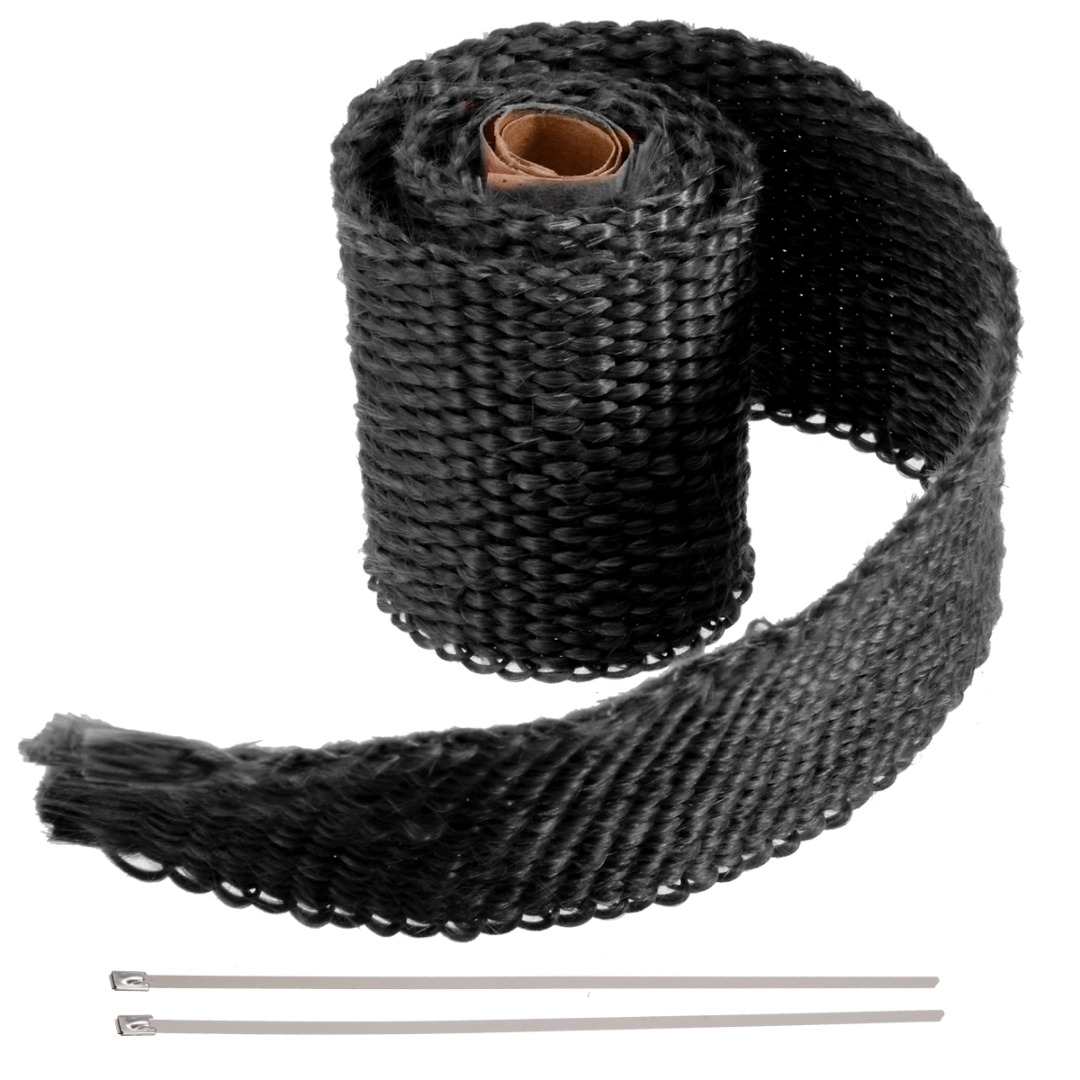 Image 4 - 50CM*5CM Motorcycles Exhaust Header Pipe Heat Wrap Manifold Shields Insulation Roll Tape Virgin Glass Fiber-in Exhaust & Exhaust Systems from Automobiles & Motorcycles
