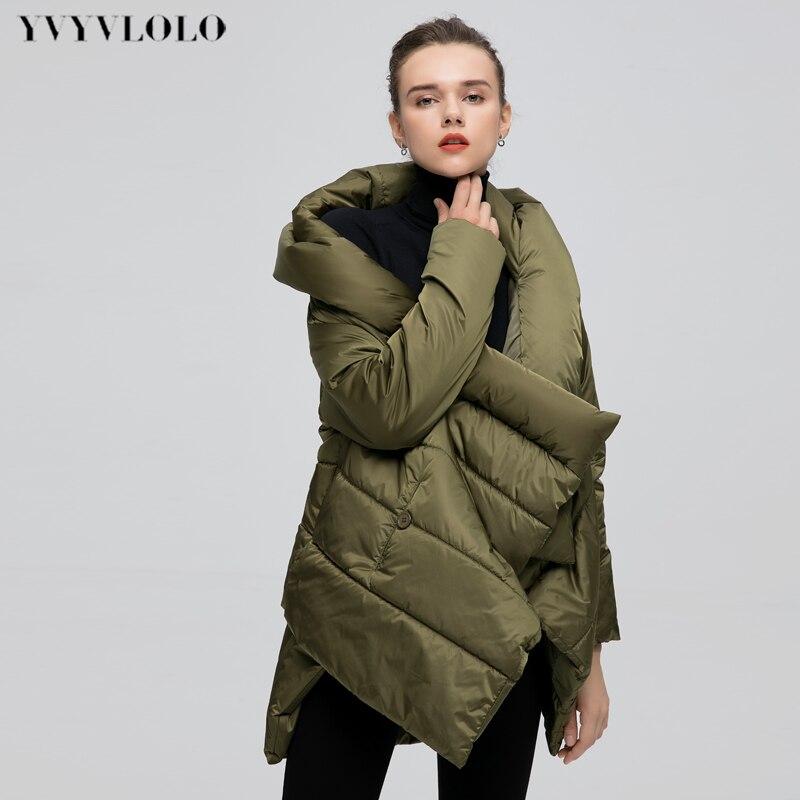 YVYVLOLO Women s Winter Jacket Fashion Cloak Winter Coat Women Parka Loose Plus Size Down Winter