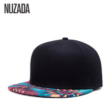 1416870ede2 Brand NUZADA Unique Design Baseball Cap For Women Men Bone Printing Pattern  Caps Cotton Popular Street Art Hats Snapback