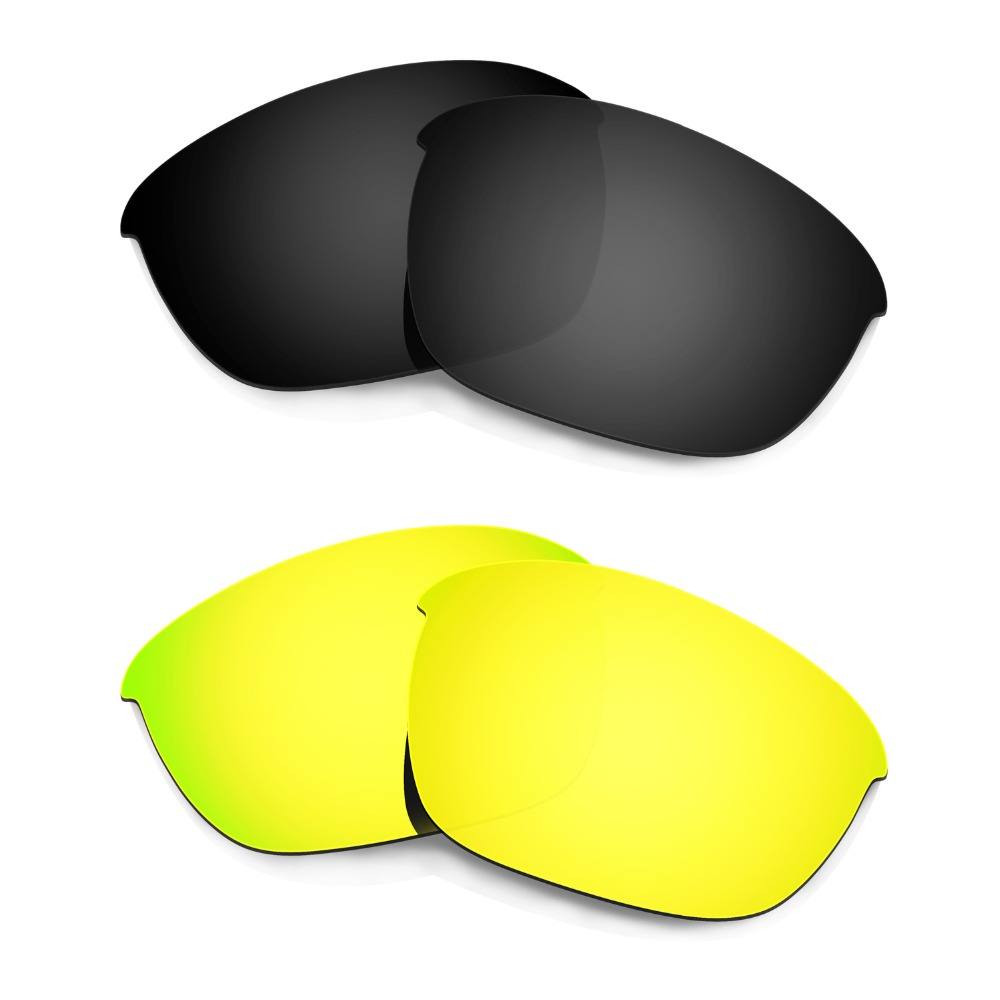 Apparel Accessories -black & 24k Gold Jade White Candid Hkuco 2 Pairs For Half Jacket 2.0 Polarized Replacement Lenses