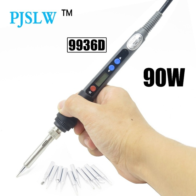 PJLSW 9936d 90W Adjustable temperature Digital Electric Soldering station EU plug Replace HAKKO 936 Soldering station