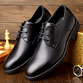 Plus Size 38-48 Spring Fall Casual Men Shoes England Trend Leather Pointed Toe Men Shoes Lace-up Office Wedding Boots Maschio