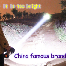 High quality rechargeable built in battery usb handed Lamp Powerful led searchlight 500 meters flashligh for