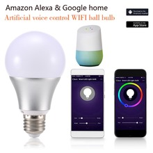 Magic RGBW Smart WIFI LED Light Bulb E27 Home Color Adjustment Lamp Compatible For Alexa Google Voice Control