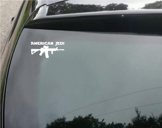 Online Shop Star Wars Car Sticker American Jedi Vinyl Car Decal - Star wars car decals