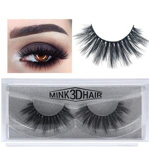 Image 4 - 50 Pairs 3d Mink Lashes Wholesale Handmade natural False Eyelashes 3D Mink Eyelashes Dramatic Lashes 17styles makeup Eye Lashes