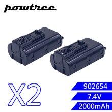 2PACKS 7.4V 2000mAh Li-Ion Rechargeable Battery For Paslode 902654 902400 918000 B20543 B20543A CF325Li