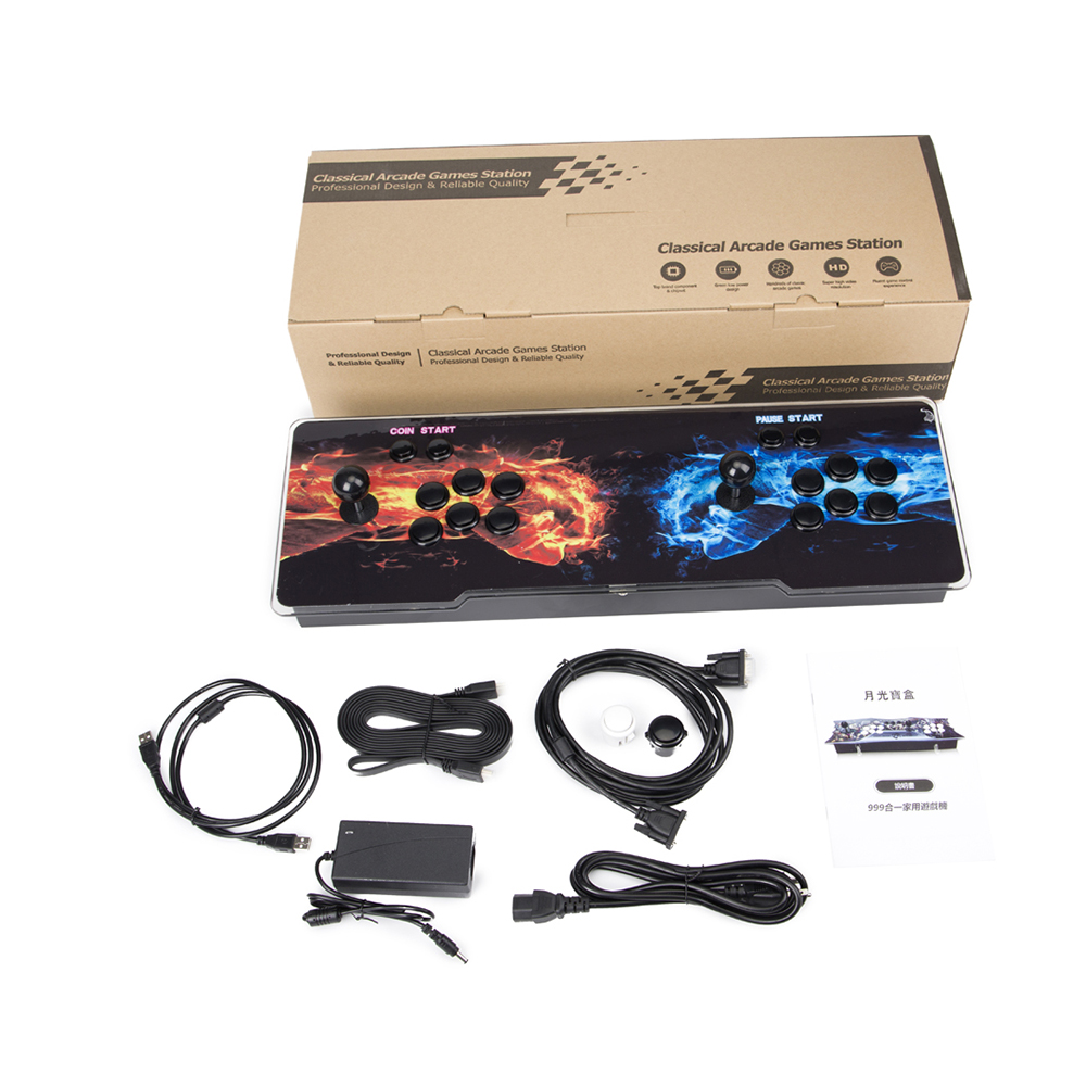 BOX 5S 1299 in 1 Arcade Game Console With Cable HDMI/ VGA output jamma arcade cabinet home TV game station