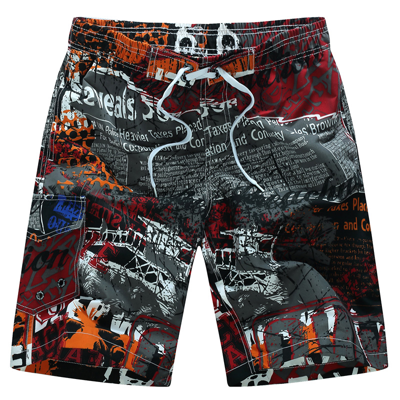 <font><b>Sexy</b></font> Swimsuit 2019 Summer Mens Swimwear Print Swimming Shorts For Men Surf Board Beach Wear Quick Dry Swimming Trunks Sunga <font><b>6XL</b></font> image