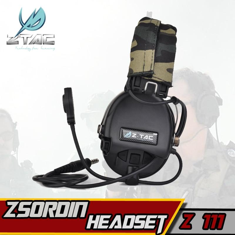 Z-TAC sordin peltor fone de ouvido elemento