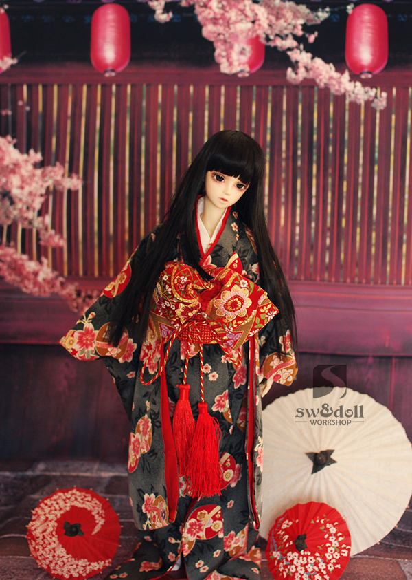 1/3 1/4 scale BJD accessories Japanese kimono doll clothes for BJD/SD.Not included doll,shoes,wig and other accessories 16C0698 fashion sweater for bjd 1 3 1 4 uncle doll clothes accessories 4 colors