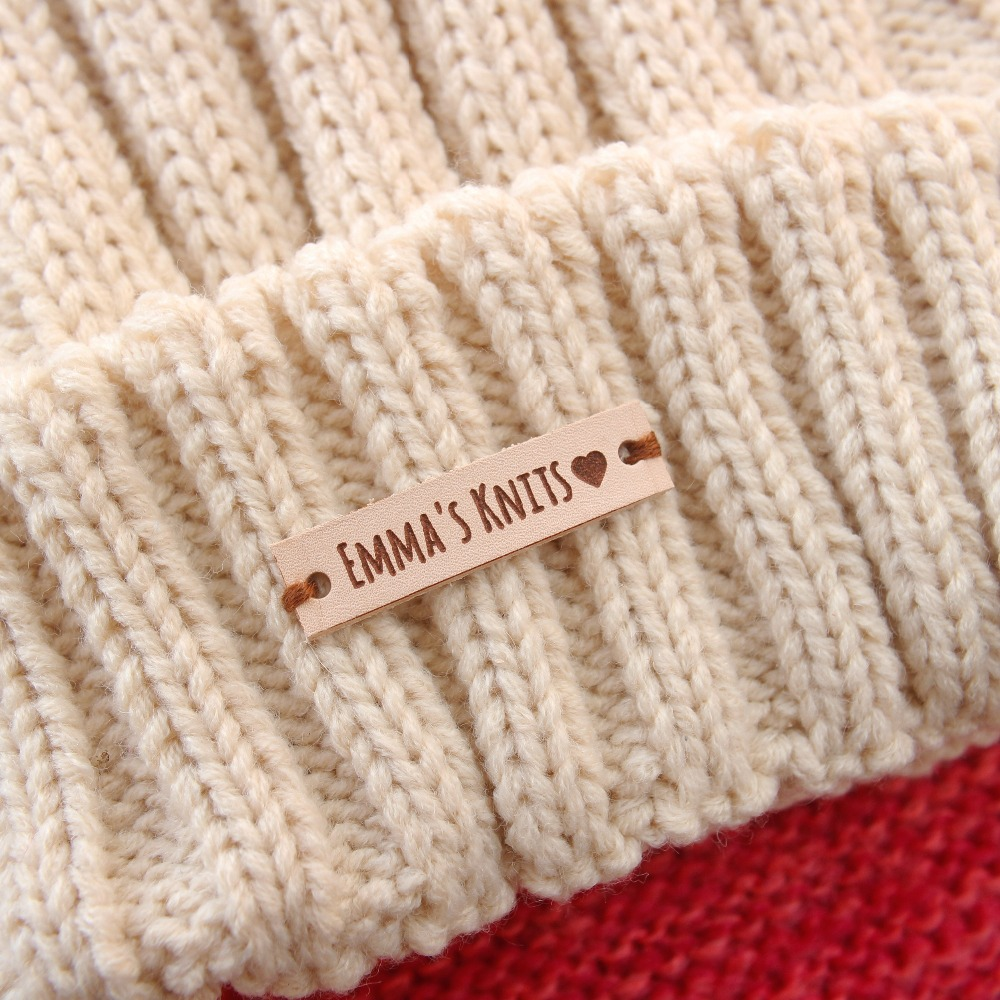 Knit-Labels Tags Personalized-Tags Custom-Name Brand for Hats