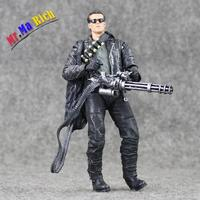 18cm Neca Terminator 2 Judgment Day T 800 Arnold Schwarzenegger Pvc Action Figure Collectible Model Toy