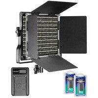 Neewer 660 светодиодный видео Лампа Двухцветный затемнения 3200 5600 к с U кронштейн барьер + 2 шт. литий ионная аккумуляторная батарея + USB зарядное ус