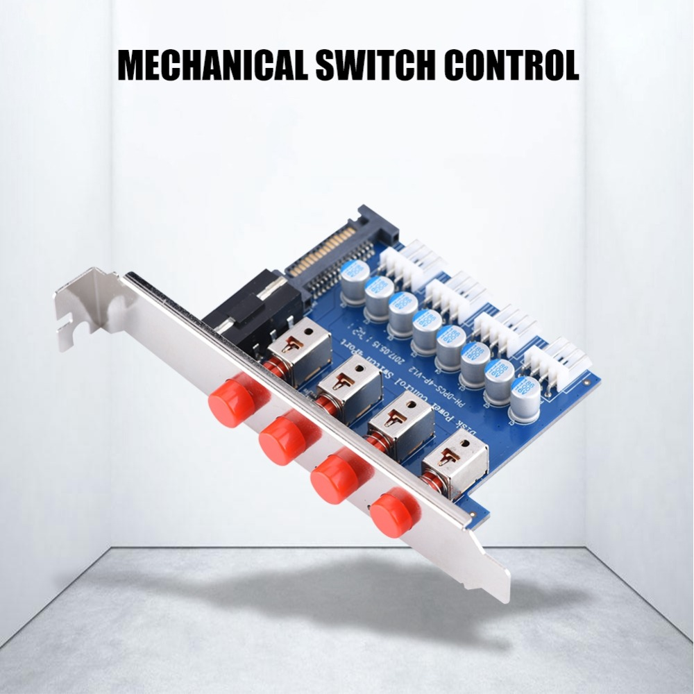 HDD Power Control Switch Hard Drive Selector SATA Drive Switcher For Desktop PC Computer