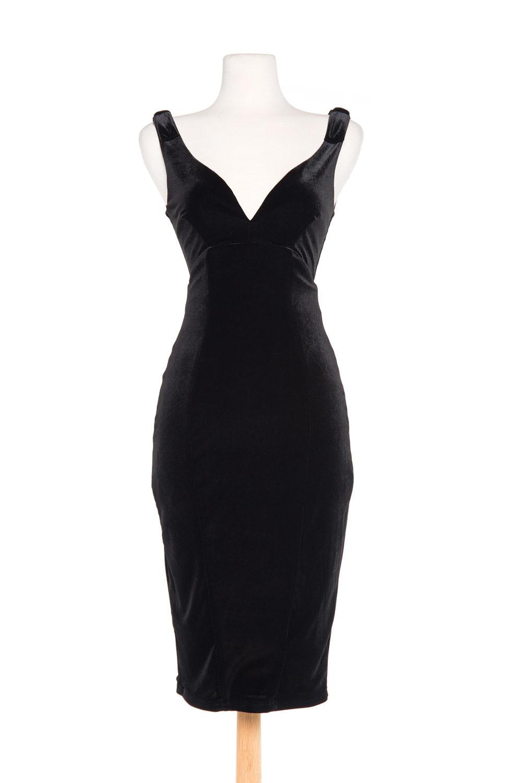 Dress Plus De Jurkens up Vintage Femmes Gilda Taille Cocktail Black Noir Velours Cou Wiggle Profonde Vestidos Pin Soirée Partie Élégant V 7q8ZABw