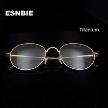 Esnbie Сверхлегкая титановая оправа для очков Мужская Ретро
