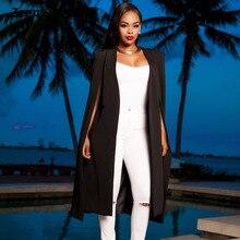 d2f3d5c35a3 New Women Spring long suit blazer Casual Fashion Loose white Black ladies  coat jacket Solid Plus