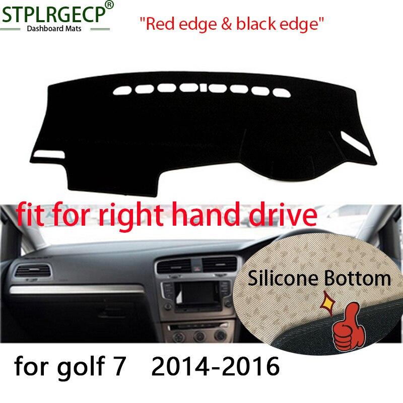 Right hand drive Double layer Dash Mat Dashmat Dashboard Cover Sun Shade Dash Board Cover Carpet for VW Volkswagen golf 7 MK7